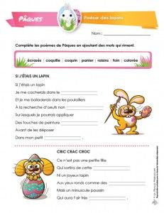 French Teaching Resources, Teaching French, Avril, Language, Easter, Reading Strategies, Easter Ideas, Short Poems, Teaching French Immersion