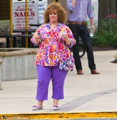 Melissa McCarthy shooting the movie Identity Theft...i really want to see this!