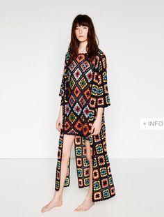 Vestido Croché Zara