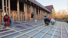 Globe Aware volunteer vacations in Romania - construction and roofing of Community Center for homeless families among Roma population