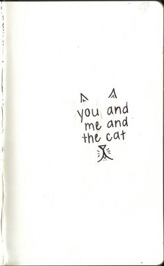 you, me and the cat