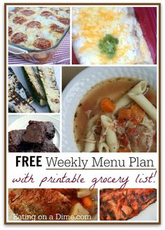 Free Weekly Menu Plan - 5/16