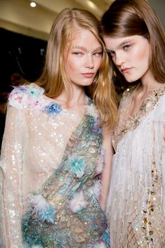 50 of the Best Backstage Moments from the Spring 2015 Shows – Vogue,Rodarte, New York Fashion Week, New York Fashion, Spring Fashion, High Fashion, Fashion Show, Fashion Trends, Style Fashion, Luxury Fashion, Ellie Saab