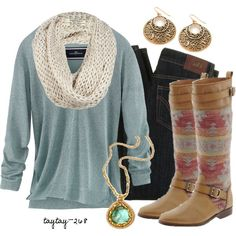 Love this combo and FAB boots!!