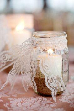 Decorating Glass Jar Lid