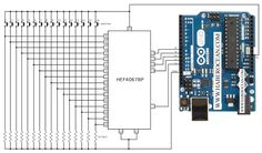 Interface 16 switches to arduino uno using only 5 digital pins (HEF4067BP) « Funny Electronics