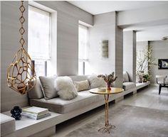 Kitchen Window Seat Decor Living Rooms Ideas For 2019 Living Room Designs, Living Room Decor, Living Spaces, Living Rooms, Home Interior Design, Interior Decorating, Stylish Interior, Decoracion Vintage Chic, Deco Design