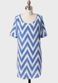 ShopRuche.com Musee Matisse Chevron Shift Dress