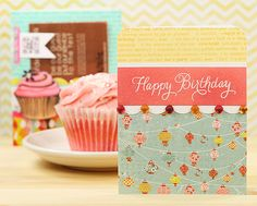 Two cards -- and one yummy cupcake!