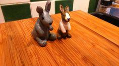 Rabbits, polymer clay