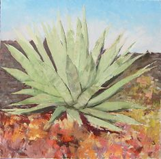 Evening Agave by Connie Miller Oil ~ 48 x 48