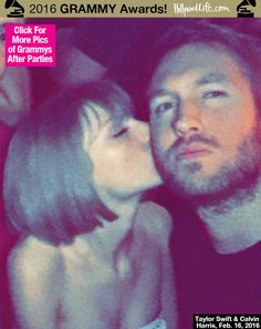 [PIC] Taylor Swift Kisses Calvin Harris At Grammys After-Party — So Cute - Hollywood Life
