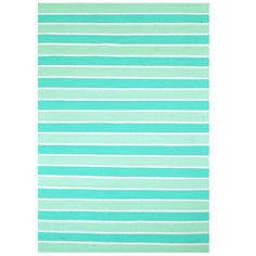 Home & More Aqua Stripe Rug WalMart