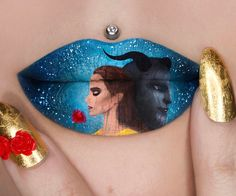 """3,212 Likes, 84 Comments - Jazmina Daniel (@missjazminad) on Instagram: """"My all time favourite Disney movie has finally come alive! Beauty and the Beast inspired Lip Art…"""""""