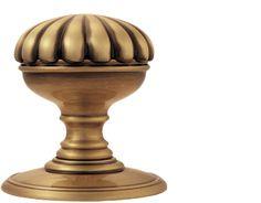 Delamain Flower Door Knobs (Concealed Fix), Florentine Bronze - DK36CFB