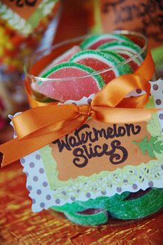 November wedding watermelon candies, rustic Halloween wedding ideas #summer wedding dessert #July wedding ideas #wedding fruit decor www.dreamyweddingideas.com