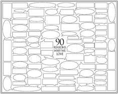 Personalized Birthday Present 90 Reasons We Love por Featherwurm