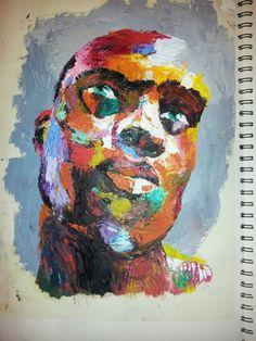 Art by me, palette knife and oil. Francoise Nielly