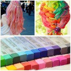 einfach temporäre 12 farben ungiftig haarfärbemitteln chalk kreide weiches haar pastelle kit