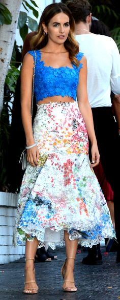 Camilla Belle At CFDA Vogue Party at Chateau Marmont on October 20, 2015, Los Angeles