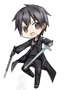 chibi Kirito from sword art online . chibi Kirito from sword art online . Otaku Anime, Manga Anime, Sword Art Online Asuna, Sword Art Online Drawing, Kunst Online, Online Art, Mythos Academy, Dibujos Anime Chibi, Sword Art Online Wallpaper
