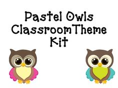 This HUGE kit is designed for anyone who adores modern designs and would like to implement an Owl theme in their classroom! This 96 page kit includ...