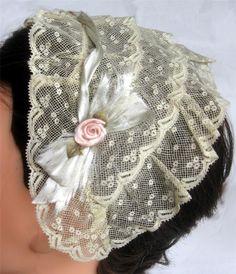 """net evening or dinner cap; ebay seller mrandmrsciv, 16.5"""" x 5"""" wide"""