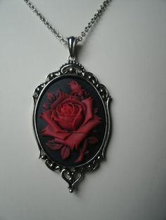 Items similar to Antique Silver Framed Metal Goth -Custom Cameo x 40 mm setting on Etsy Goth Jewelry, Fantasy Jewelry, Jewelry Box, Jewelery, Jewelry Accessories, Fashion Jewelry, Bijoux Diy, Gothic Chic, Gothic Fashion