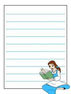 Disney Journal Card - Belle - blue dress - sitting and reading Cruise Scrapbook, Disney Scrapbook, Scrapbook Cards, Disney Fun, Disney Style, Walt Disney, Disney Vacations, Disney Trips, Journal Cards