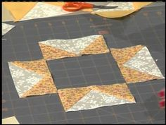 Northern Star Quilt: Eleanor and guest Sue Bouchard take Flying Geese patches to new heights.