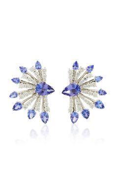 Mirage Tanzanite and Diamond Earrings by HUEB