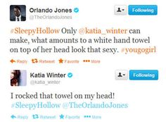 """That time Orlando Jones and Katia Winter tweeted about wardrobe choices. 