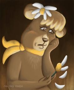Trying something different today with Cindy Bear. She is the love-interest of Yogi Bear in his many cartoon series.