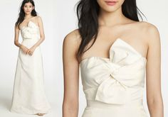 J. Crew Bow Monde gown.  $1500.  It's a bit too simple for my liking, but I really enjoy the twist at the bust.