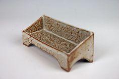 Handmade ceramic business card holder white by LauraHarmonPottery
