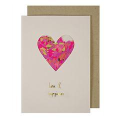 Heart Confetti Shaker Card