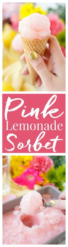 This Pink Lemonade Sorbet is a vibrant and fun no-churn summer treat. Just a little bit of hands-on work and let your freezer do the rest!