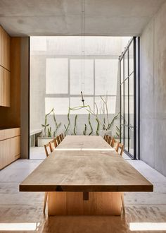 PACHUCA   PPAA - Pérez Palacios Arquitectos Asociados   Media - Photos and Videos - 20   Archello Pachuca, Dining Room, Dining Table, Keep The Lights On, Ideal Tools, Sit Back, Concrete Wall, How To Run Faster, Contemporary Architecture