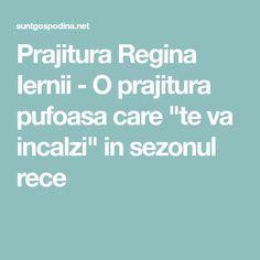 "Prajitura Regina Iernii - O prajitura pufoasa care ""te va incalzi"" in sezonul rece Mariana"