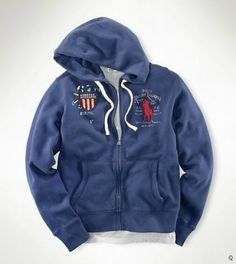 Polo Ralph Lauren Patriotic Big Pony Hoodie