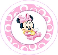 Minnie First Year in Pink: Free Printable Party Kit. Baby Mickey, Mickey Mouse, Minnie Mouse Theme Party, Mouse Parties, Party Kit, Mini Mouse Baby Shower, Disney Babys, Baby Images, Mickey And Friends