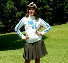 1960s Vintage White and Blue Cheerleader by Enchantedfuture