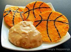 baseketball tortilla chips
