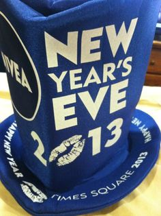 FIRST LOOK: The Official Times Square New Year's Eve Hat for 2013. Thanks to Nivea