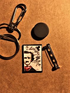 Mini Book Keychain, Pin or Magnet: The Collected Works of Edgar Allan Poe $7. Contact me here or at orifaith1@yahoo.com to purchase. First time buyers will receive a 10% discount. #edgarallanpoe