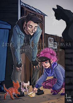 Frania i kotki by Fukari on DeviantArt
