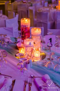 A colorful table setting perfectly combined with the candle lighting to create a romantic atmosphere!  For more visit: diamondevents.gr  You can also find us   on: https://instagram.com/diamond_event_planners/   https://www.facebook.com/pages/Diamond-Event-Planners/176242063682   https://www.pinterest.com/diamondwedding/  #photography #glamorous #fabulous #charming #elegant #exciting #magnificent #inspirational #weddingplanner  #luxurious #delightful #whimsical #intriguing #gorgeous…