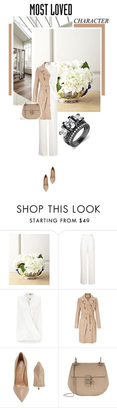"""""""Hannah from fallen from india place"""" by s-thinks ❤ liked on Polyvore featuring John-Richard, Maison Rabih Kayrouz, Miss Selfridge, Sergio Rossi and Chloé"""