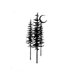Cool design by Lois Vero - Tattoo und Piercing - Tattoo Pine Tattoo, Raven Tattoo, Form Tattoo, Shape Tattoo, Body Art Tattoos, Small Tattoos, Tree Tattoos For Men, Tatoos, Natur Tattoos
