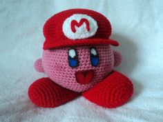 Crochet Kirby by golden jelly bean. For free pattern click picture